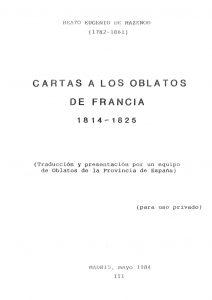 thumbnail of 1 Cartas a los Oblatos de Francia 1814-1825